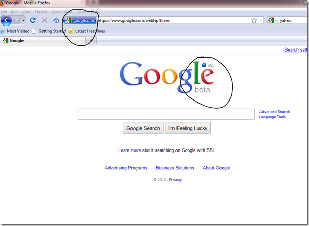 My Note On Solutions.: Replace Google Search Provider Url